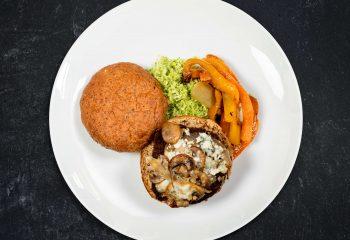 Cajun Black & Bleu Grass-Fed Burger on Sprouted Grain
