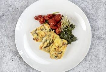 Roasted Tomato Caprese Egg Frittata