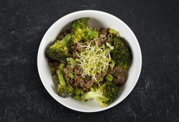 Korean Turkey Bowl Over Cauliflower Rice