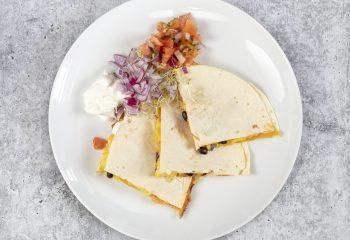 Southwest Wild Boar Chorizo Breakfast Quesadilla on Low Carb Tortilla