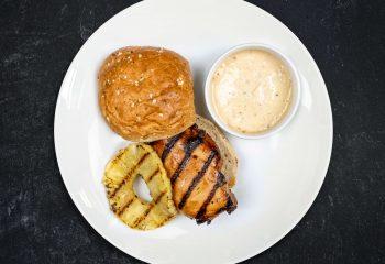 Teriyaki Chicken Sandwich with Sesame Ginger Olive Oil Mayo
